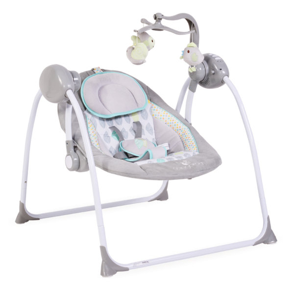 Cangaroo Бебешка люлка Baby Swing Plus сива